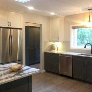 Two Tone Kitchen Renovation